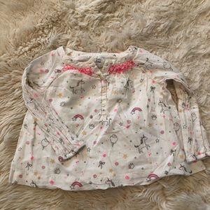 Gap unicorn blouse